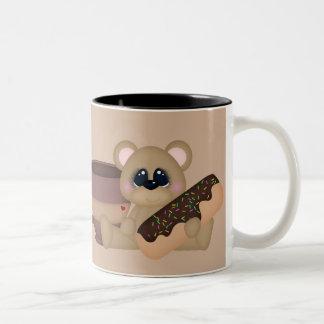 Café et tasse d'amusement de butées toriques