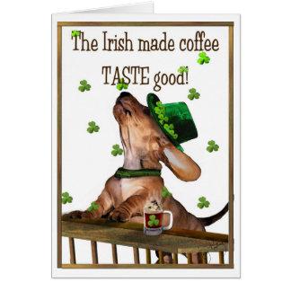 Café irlandais du jour de Patrick de saint Carte