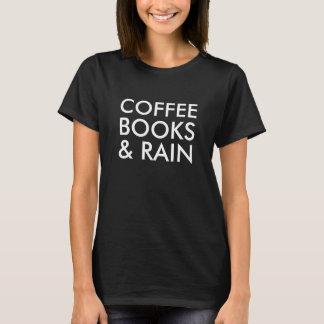 Café, livres, et pluie t-shirt