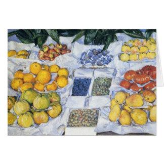 Caillebotte : Fruit montré sur un support Carte