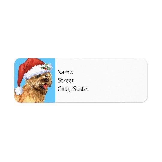 Cairn Terrier heureux de Howlidays Étiquettes D'adresse Retour