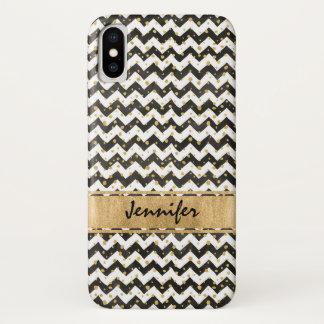 Caisse blanche noire de l'iPhone X de Coque iPhone X
