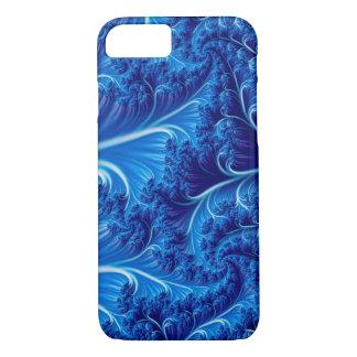 Caisse bleue d'art d'imaginaire coque iPhone 8/7