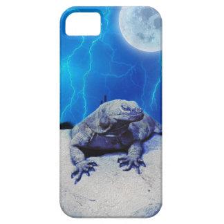 Caisse bleue d'art d'imaginaire de reptile de étui iPhone 5
