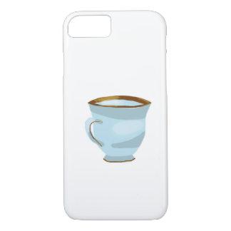 Caisse bleue de l'iPhone 7 de tasse de thé Coque iPhone 7