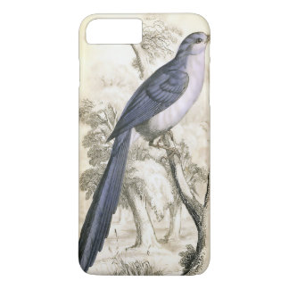 Caisse bleue vintage de l'iPhone 7 d'oiseau Coque iPhone 8 Plus/7 Plus