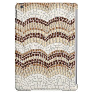 Caisse brillante d'air d'iPad de mosaïque beige
