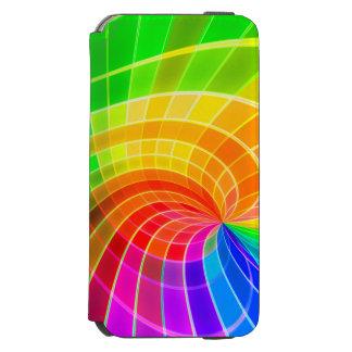 Caisse colorée de remous d'arc-en-ciel coque-portefeuille iPhone 6 incipio watson™