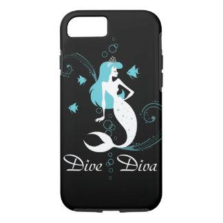 "Caisse cyan de l'iPhone 6 de sirène ""de diva de Coque iPhone 8/7"