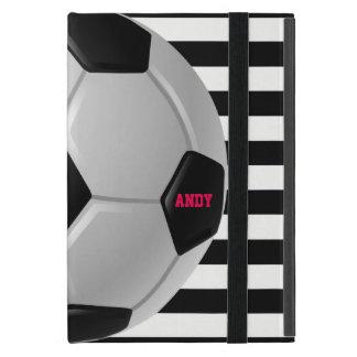 Caisse d'air d'iPad de conception du football Coques iPad Mini