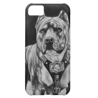 CAISSE DE CELLULES D'IPHONE 5 CHARCOIL PITBULL COQUE iPhone 5C