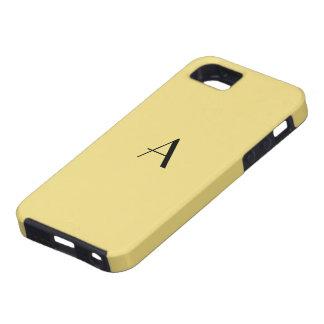 Caisse de couleur chamois du monogramme iPhone5 Coque iPhone 5