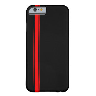 Caisse de emballage noire et rouge de l'iPhone 6 d Coque Barely There iPhone 6