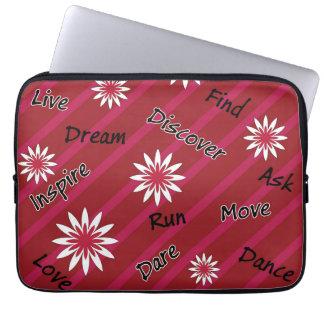 Caisse de motivation d'ordinateur portable de housse pour ordinateur portable