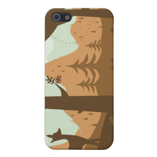 Caisse de point de cerfs communs de paysage iPhone 5 case