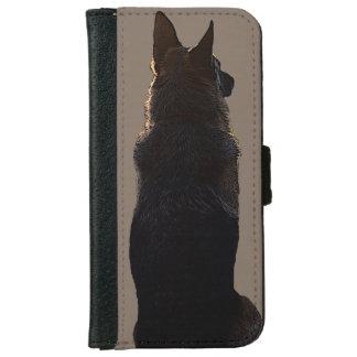 Caisse de portefeuille d'iPhone de berger allemand