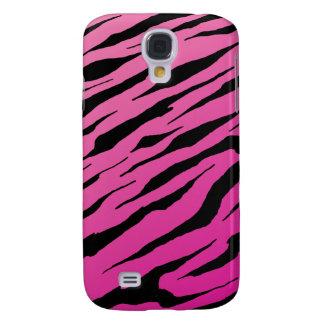 Caisse dure de rayure rose vive de tigre de HTC Coque Galaxy S4