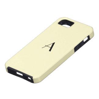 Caisse en pastel jaune du monogramme iPhone5 Étui iPhone 5