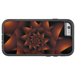Caisse en spirale foncée orange brûlée de l'iPhone Coque iPhone 6 Tough Xtreme