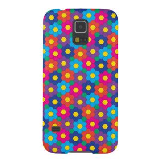 Caisse fleurie de téléphone protection galaxy s5