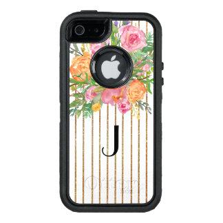 Caisse florale de l'iPhone 5S d'Otterbox barrée Coque OtterBox iPhone 5, 5s Et SE