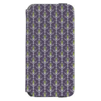 Caisse florale verte élégante de motif coque-portefeuille iPhone 6 incipio watson™
