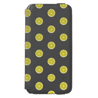 Caisse fraîche de citron de point de polka coque-portefeuille iPhone 6 incipio watson™