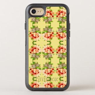 Caisse Girly jaune romantique florale de téléphone Coque Otterbox Symmetry Pour iPhone 7