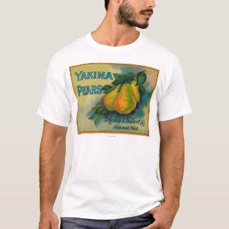 Caisse LabelToppenish, WA de poires de Yakima T-shirt