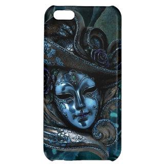 Caisse Masque-Bleue de l'iPhone 5 de damassé de ca Étui iPhone 5C