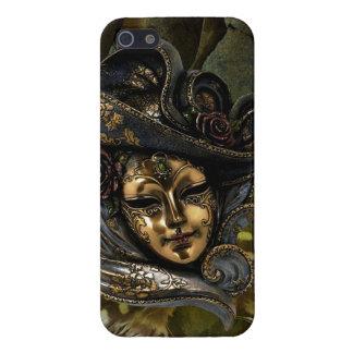 Caisse Masque-Verte de l'iPhone 5 de damassé de ca Étuis iPhone 5