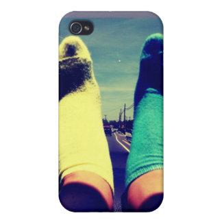 Caisse mignonne de chaussettes étui iPhone 4