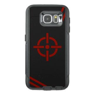 Caisse noire et rouge de téléphone de cible