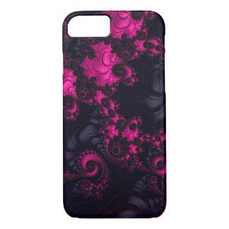 Caisse noire rose magnifique de l'iPhone 7 de Coque iPhone 7