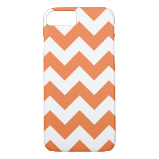 Caisse orange de l'iPhone 7 de zigzag de Chevron Coque iPhone 7