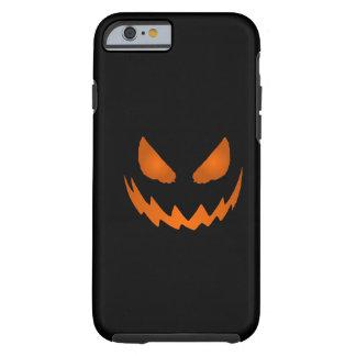 Caisse orange et noire de l'iPhone 6 de Jack-o'-la