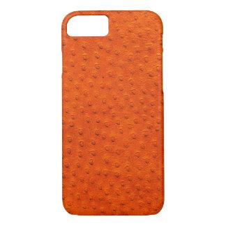 Caisse orange exotique de l'iPhone 7 de cuir Coque iPhone 8/7