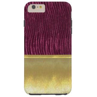 Caisse pourpre de conception d'or mince de Shell Coque iPhone 6 Plus Tough