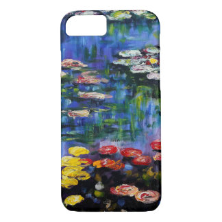 Caisse pourpre de l'iPhone 7 de nénuphars de Monet Coque iPhone 7