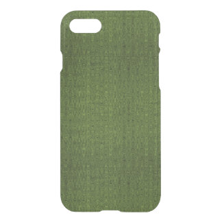 Caisse rare de déflecteur de Clearly™ - chat vert Coque iPhone 7