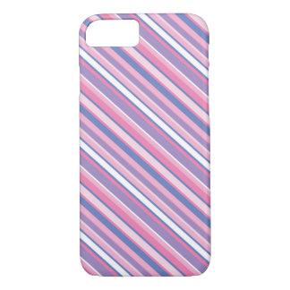 Caisse rayée colorée de l'iPhone 7 Coque iPhone 7