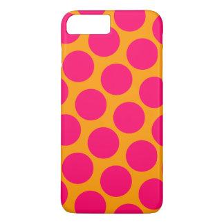 Caisse rose de pois coque iPhone 7 plus