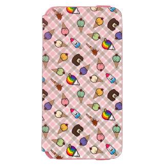 Caisse rose de portefeuille de festins givrés coque-portefeuille iPhone 6 incipio watson™