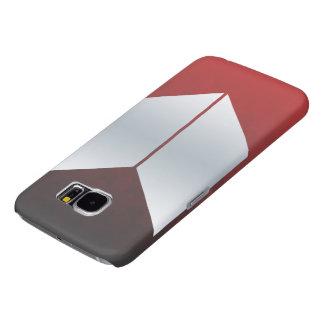Caisse rouge de la galaxie S6 de Samsung