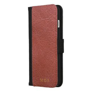 Caisse rouge sang de portefeuille d'iPhone de cuir