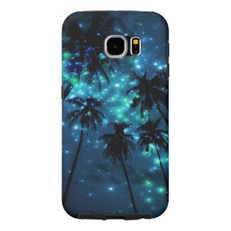 Caisse tropicale turquoise de la galaxie S6 de