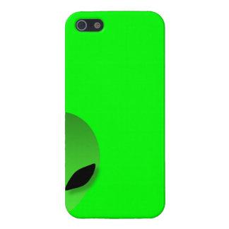 Caisse verte étrangère d'Iphone 5 Coque iPhone 5