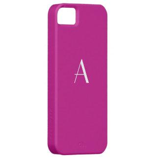 Caisse violette rouge de l'iPhone 5 de monogramme Coque iPhone 5