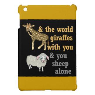 Calembour animal drôle, girafe et moutons coques iPad mini