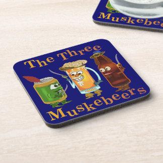 Calembour drôle trois Muskebeers de bière Sous-bock